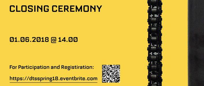 Invitation to IDS-Spring'18 Closing Ceremony